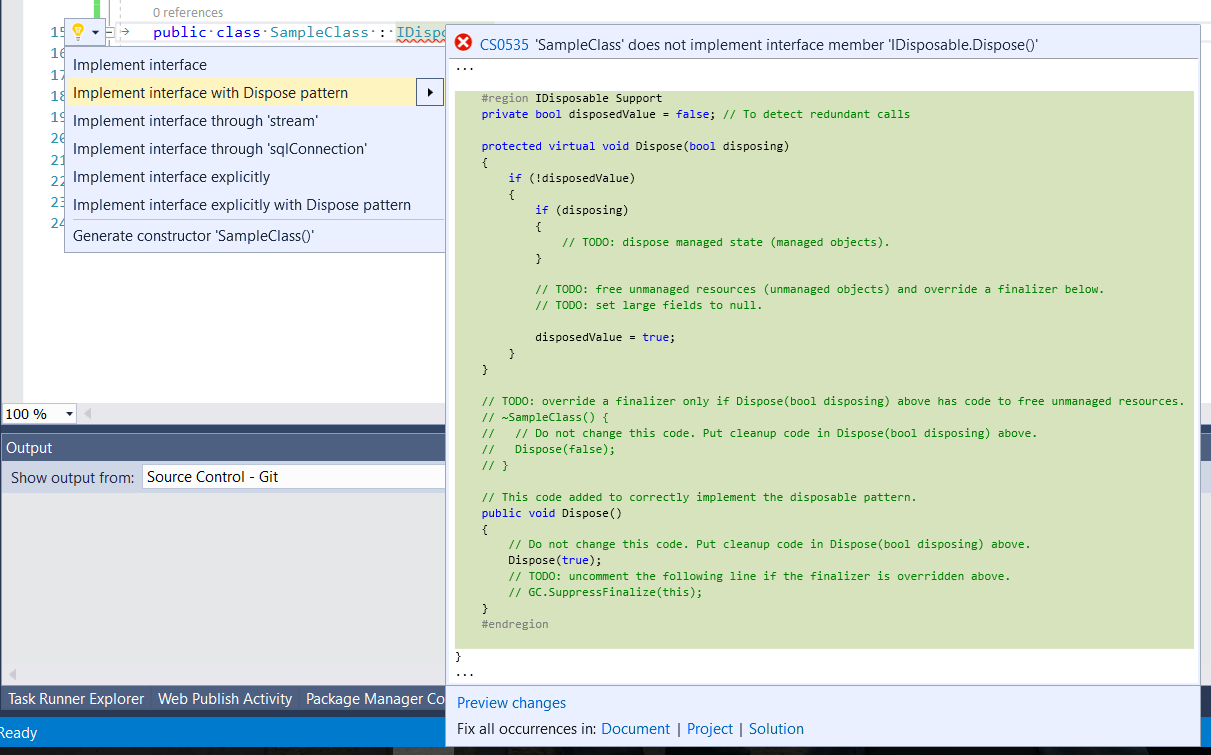 Visual-Studio-IDisposable-pattern